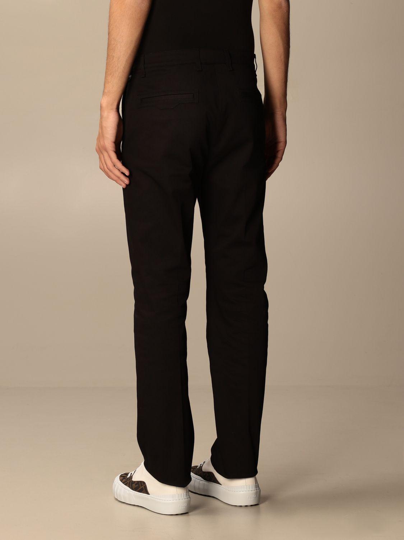 Pantalone Fendi: Pantalone sartoriale Fendi a vita alta nero 2