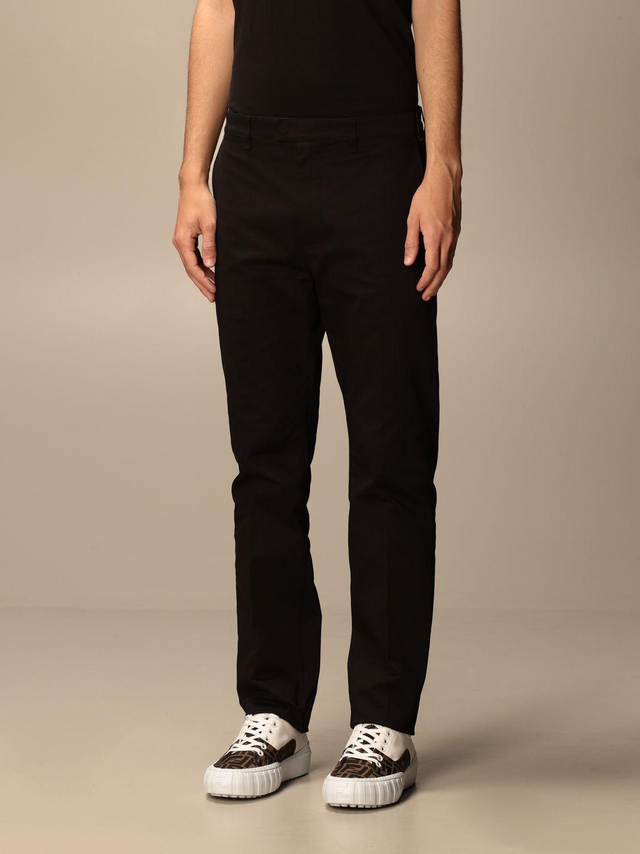 Pantalone Fendi: Pantalone sartoriale Fendi a vita alta nero 3