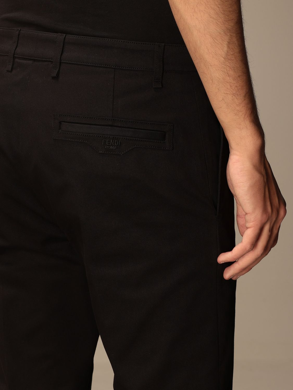 Pantalone Fendi: Pantalone sartoriale Fendi a vita alta nero 4