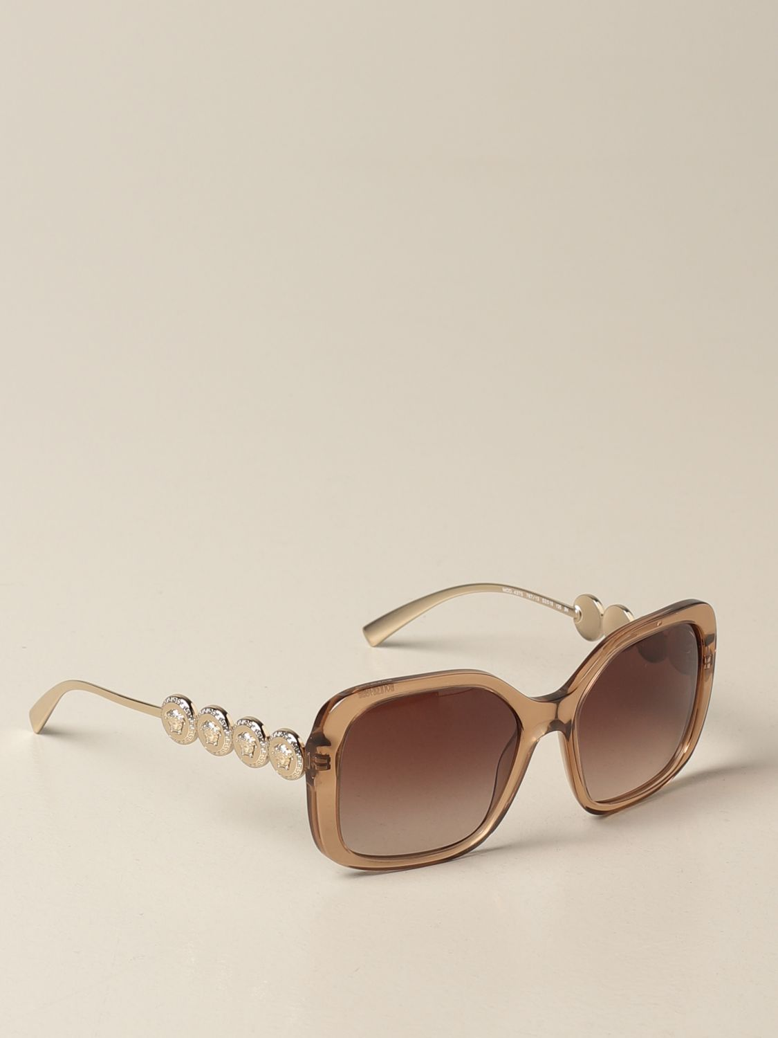 Glasses Versace: Versace sunglasses in acetate with metal temples salmon 1