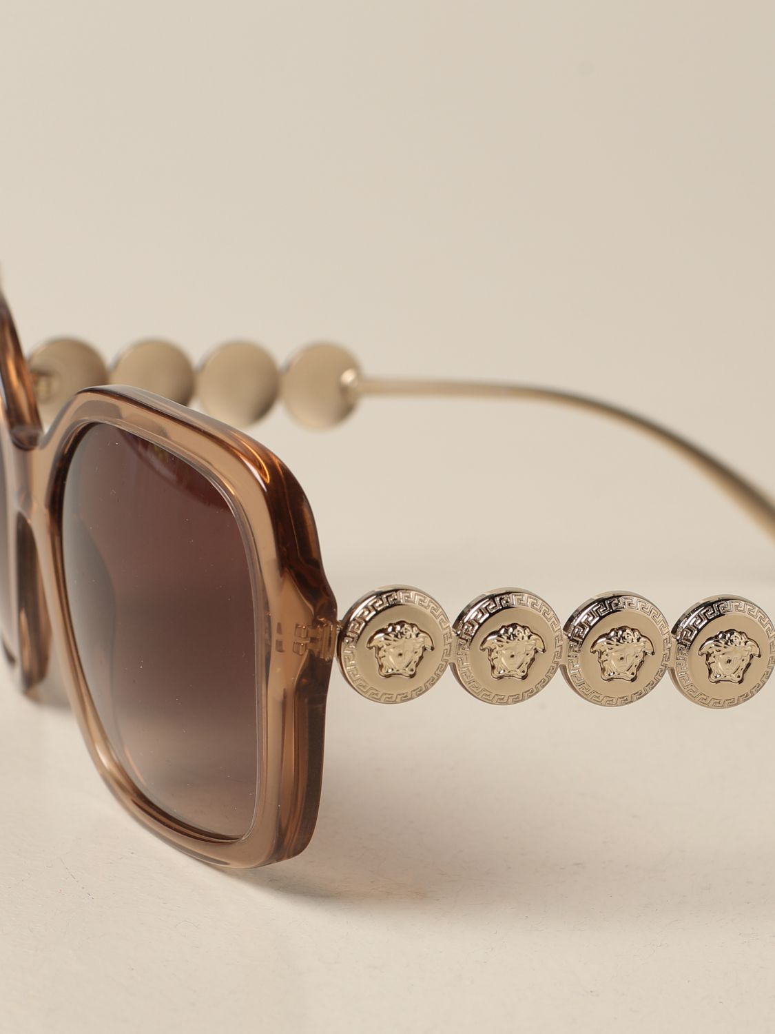 Glasses Versace: Versace sunglasses in acetate with metal temples salmon 4