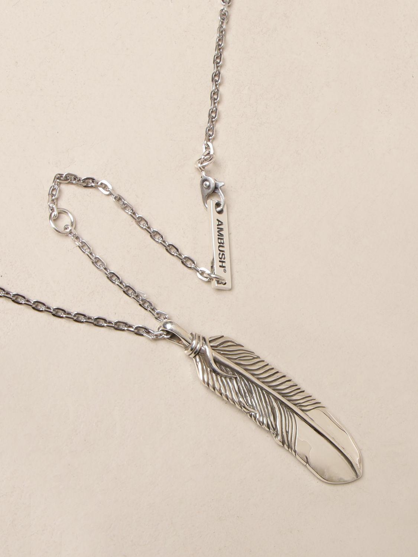 Jewel Ambush: Ambush necklace with feather pendant silver 2