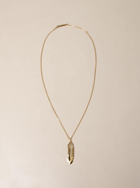 Jewel Ambush: Ambush necklace with feather pendant gold 1