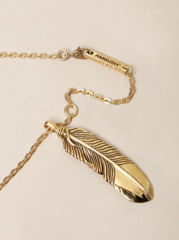 Jewel Ambush: Ambush necklace with feather pendant gold 2