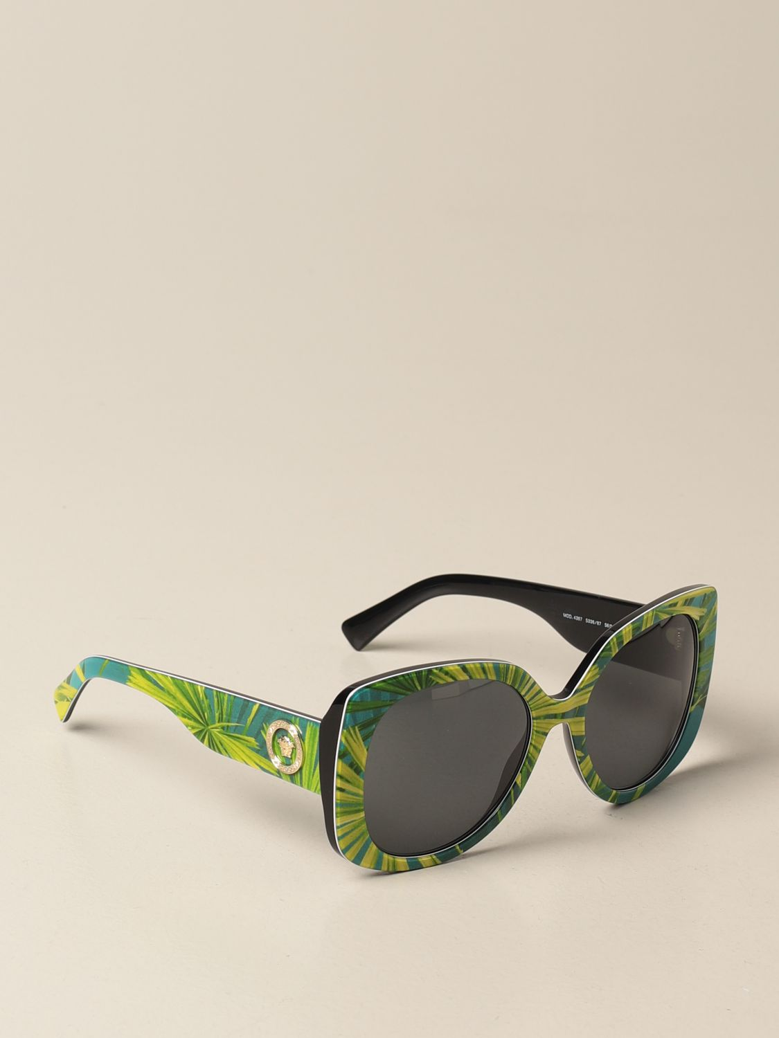 Glasses Versace: Versace sunglasses in acetate with a medusa head green 1