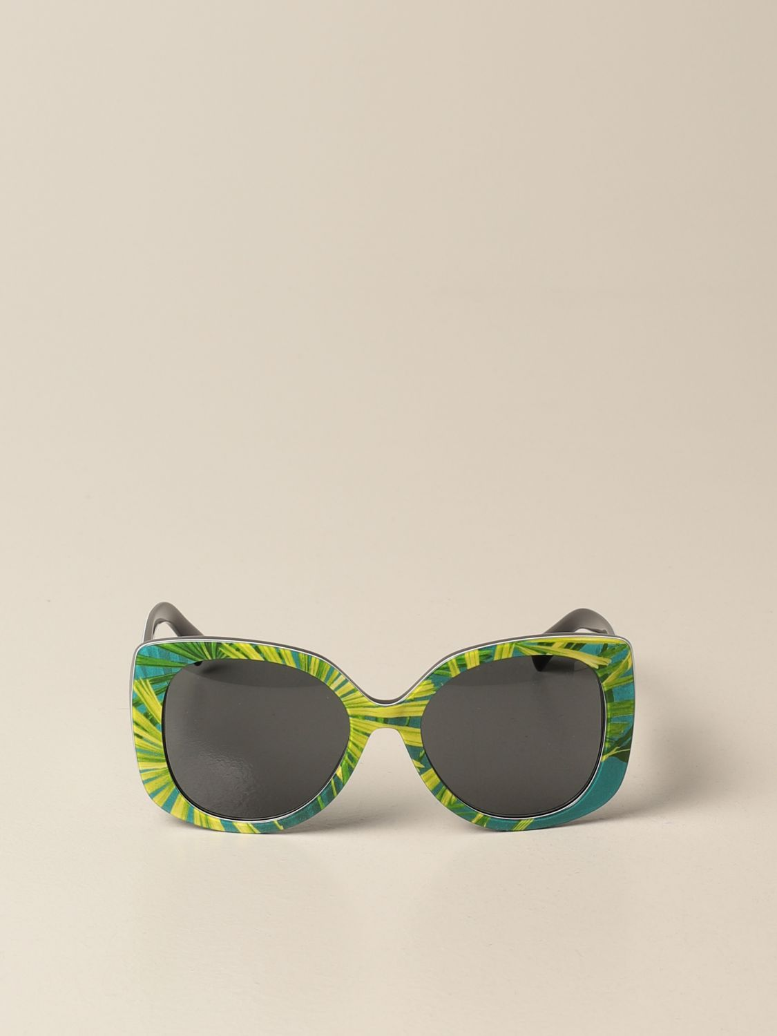 Glasses Versace: Versace sunglasses in acetate with a medusa head green 2