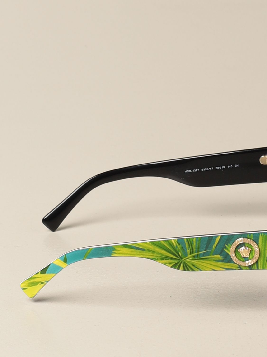 Glasses Versace: Versace sunglasses in acetate with a medusa head green 3