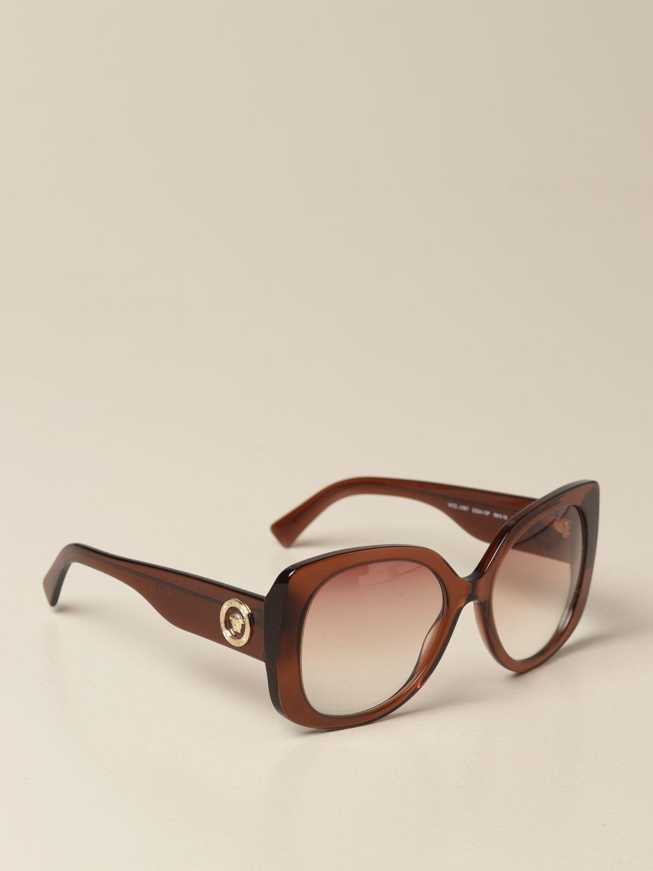 Солнцезащитные очки Versace: Солнцезащитные очки Женское Versace коричневый 1
