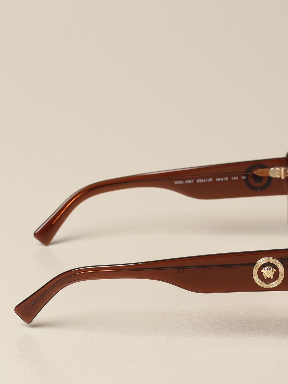 Солнцезащитные очки Versace: Солнцезащитные очки Женское Versace коричневый 3