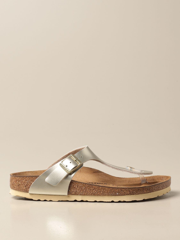 Shoes Birkenstock: Gizeh Kids Birkenstock thong sandals silver 1