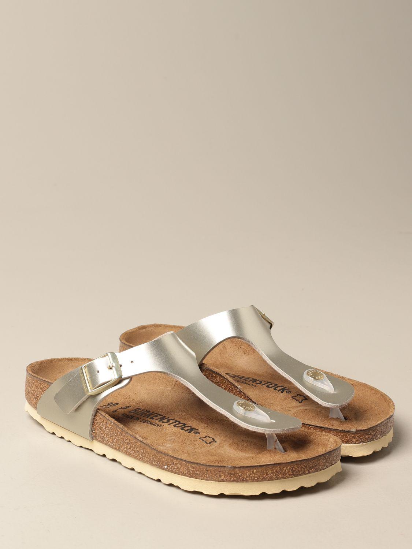 Shoes Birkenstock: Gizeh Kids Birkenstock thong sandals silver 2