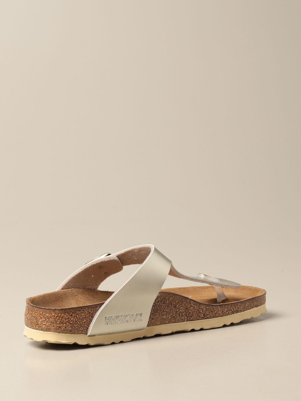 Shoes Birkenstock: Gizeh Kids Birkenstock thong sandals silver 3