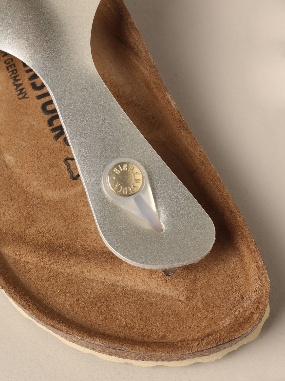 Shoes Birkenstock: Gizeh Kids Birkenstock thong sandals silver 4