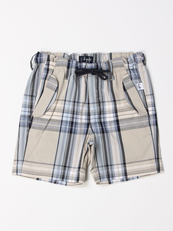 Pantaloncino Il Gufo: Pantaloncino jogging Il Gufo in misto cotone a fantasia beige 1