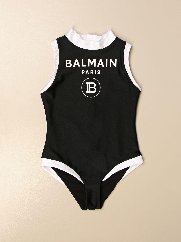 Costume Balmain: Costume intero Balmain con logo bianco 1