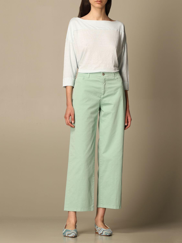 牛仔裤 Malo: 裤子 女士 Malo 绿色 2