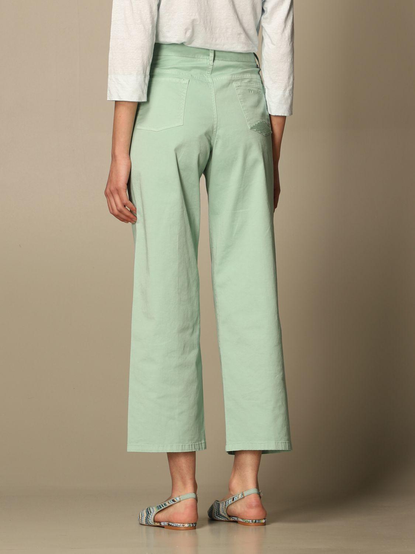 牛仔裤 Malo: 裤子 女士 Malo 绿色 3