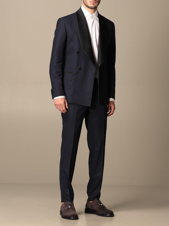Suit Alessandro Dell'acqua: Suit men Alessandro Dell'acqua blue 2