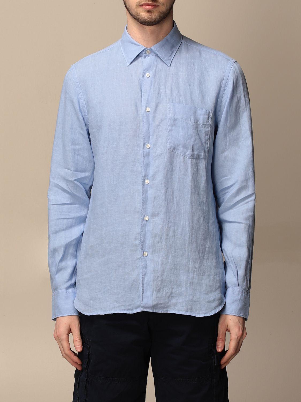 Shirt Aspesi: Shirt men Aspesi gnawed blue 1
