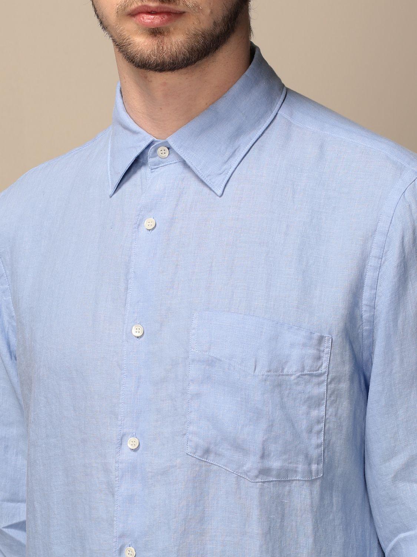 Shirt Aspesi: Shirt men Aspesi gnawed blue 3