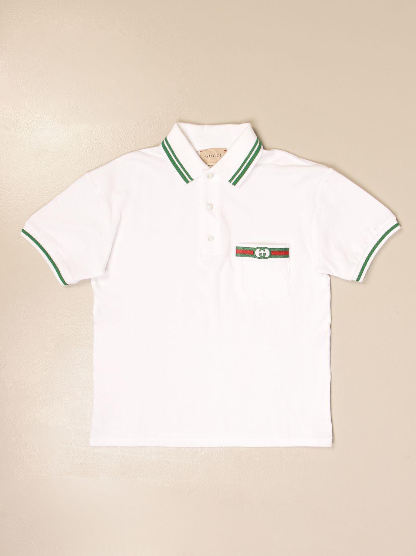 Polo Gucci: Polo Gucci con logo vintage bianco 1
