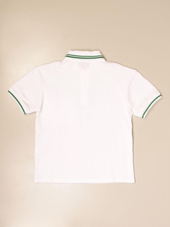 Polo Gucci: Polo Gucci con logo vintage bianco 2