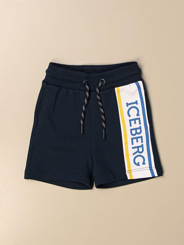 Pantaloncini Iceberg: Pantaloncino jogging Iceberg con logo blue 1