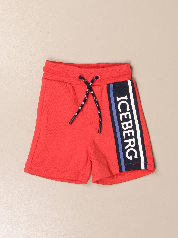 Pantaloncini Iceberg: Pantaloncino jogging Iceberg con logo rosso 1