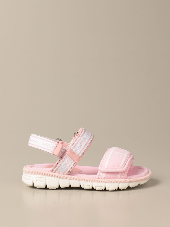 Shoes Dolce & Gabbana: Dolce & Gabbana sandals with logo pink 1