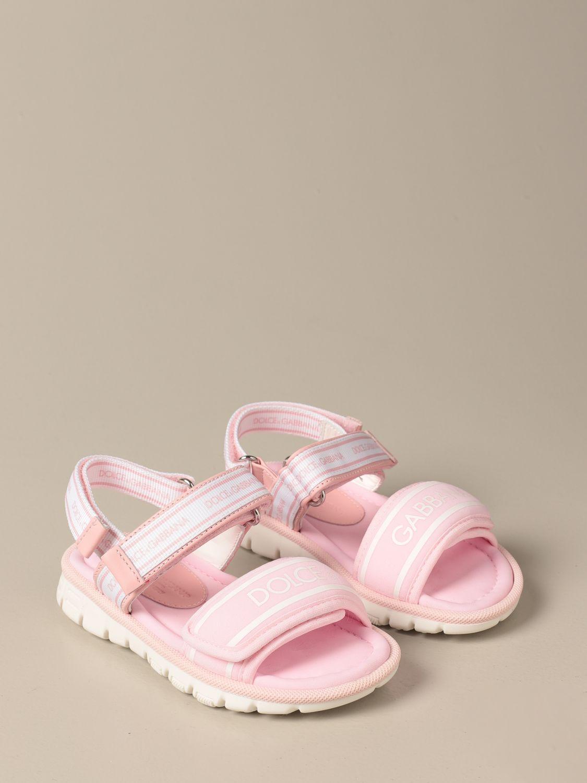 Shoes Dolce & Gabbana: Dolce & Gabbana sandals with logo pink 2