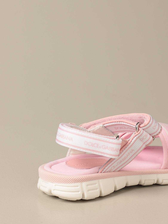 Shoes Dolce & Gabbana: Dolce & Gabbana sandals with logo pink 3