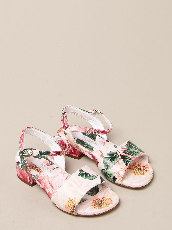 Shoes Dolce & Gabbana: Dolce & Gabbana floral patterned sandals pink 2
