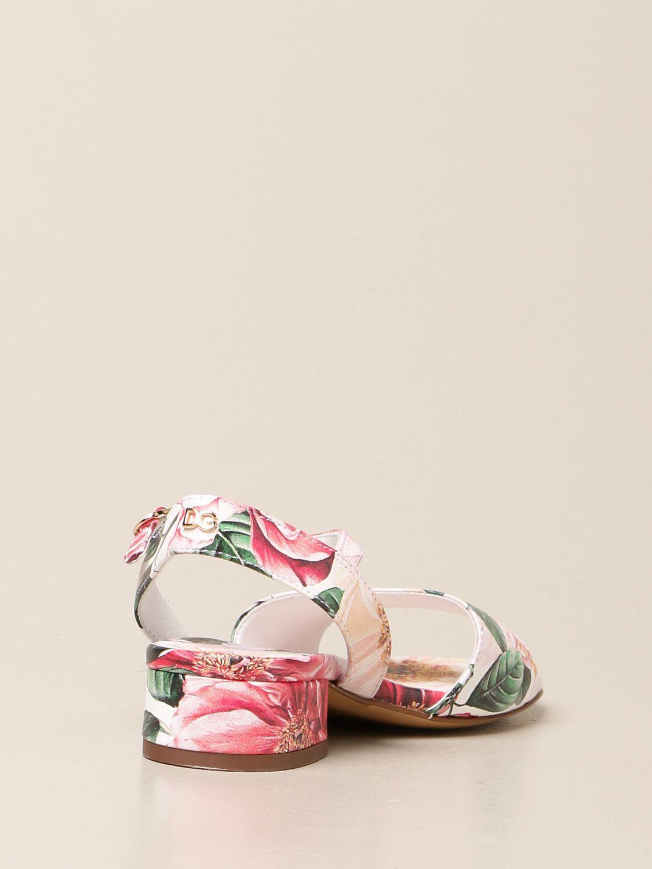 Shoes Dolce & Gabbana: Dolce & Gabbana floral patterned sandals pink 3