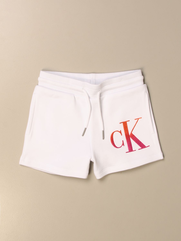 Pantalones cortos Calvin Klein: Pantalones cortos niños Calvin Klein blanco 1