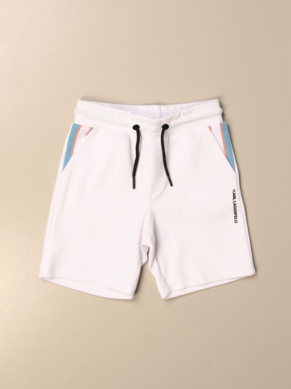Pantaloncino Karl Lagerfeld Kids: Pantaloncino jogging Karl Lagerfeld Kids bianco 1