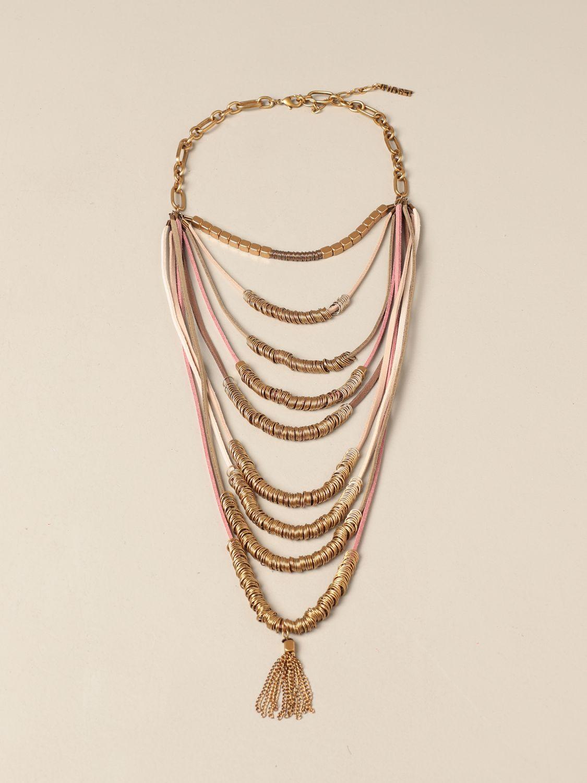 Gioielli Twin Set: Collana Twin Set in maglie metalliche con frange oro 1