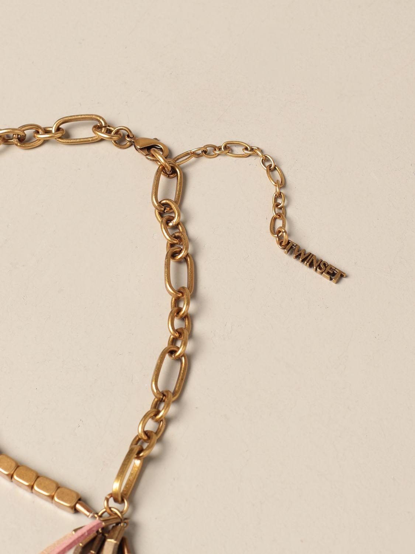 Gioielli Twin Set: Collana Twin Set in maglie metalliche con frange oro 2