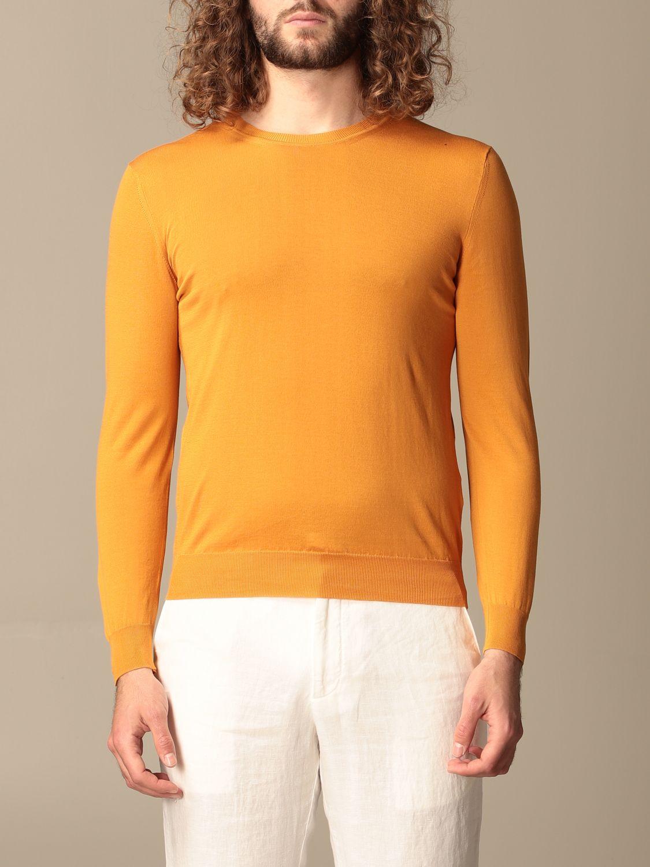 Maglia Altea: Maglia a girocollo Altea in cotone arancione 1