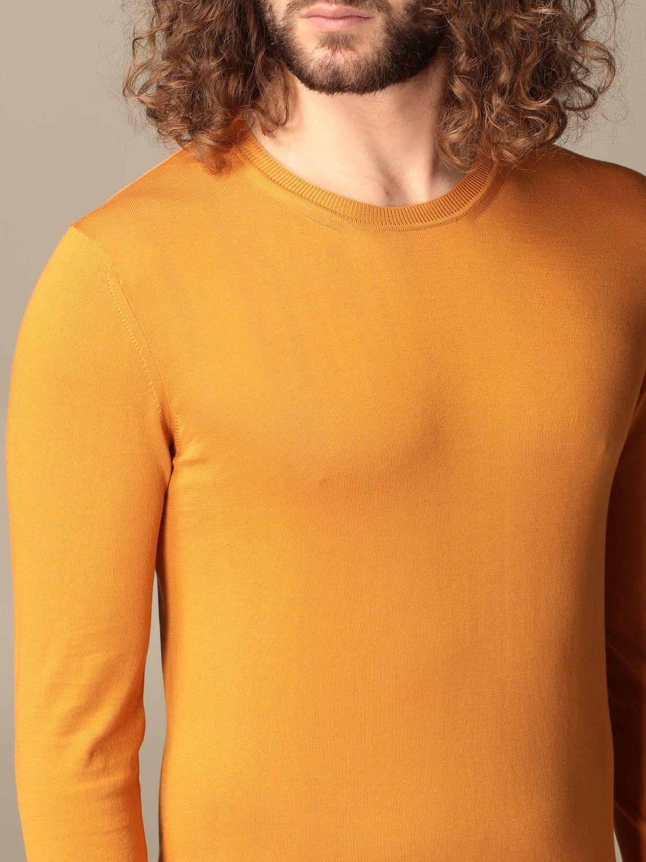 Maglia Altea: Maglia a girocollo Altea in cotone arancione 3