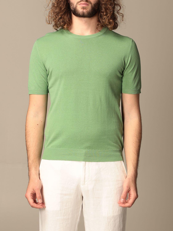 Maglia Altea: Maglia Altea in lino e cotone verde 1