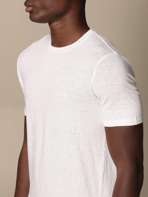 T-shirt Altea: Altea basic linen T-shirt white 3