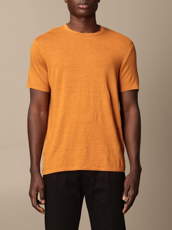 T-shirt Altea: Altea basic linen T-shirt orange 1