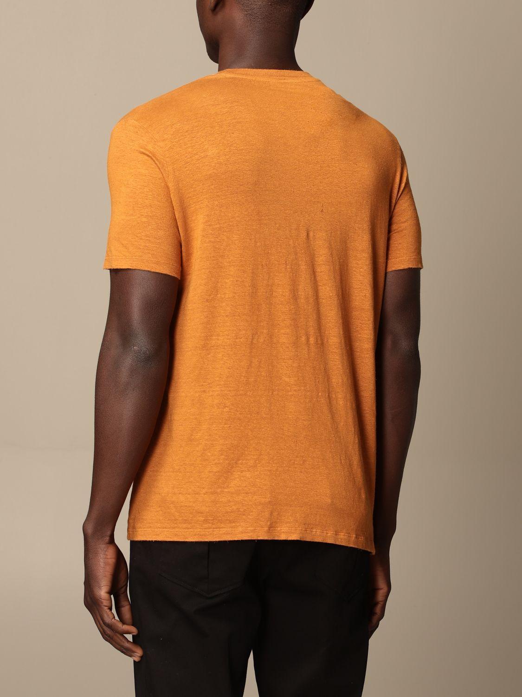 T-shirt Altea: Altea basic linen T-shirt orange 2