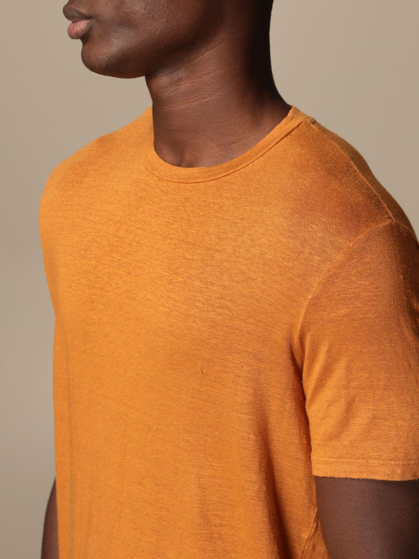 T-shirt Altea: Altea basic linen T-shirt orange 3
