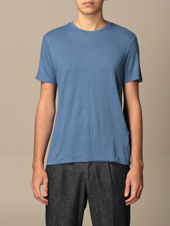T-shirt Altea: T-shirt basic Altea in lino azzurro 1