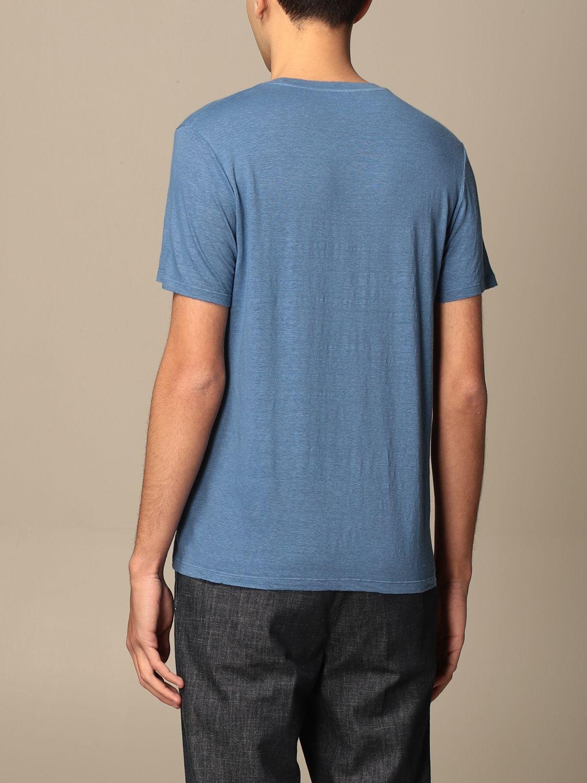 T-shirt Altea: T-shirt basic Altea in lino azzurro 2