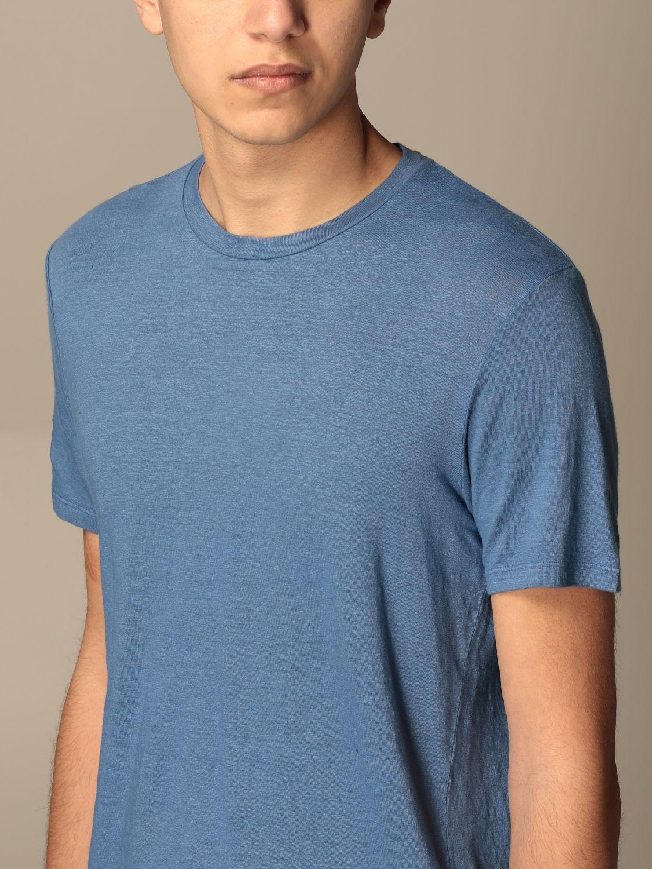T-shirt Altea: T-shirt basic Altea in lino azzurro 3