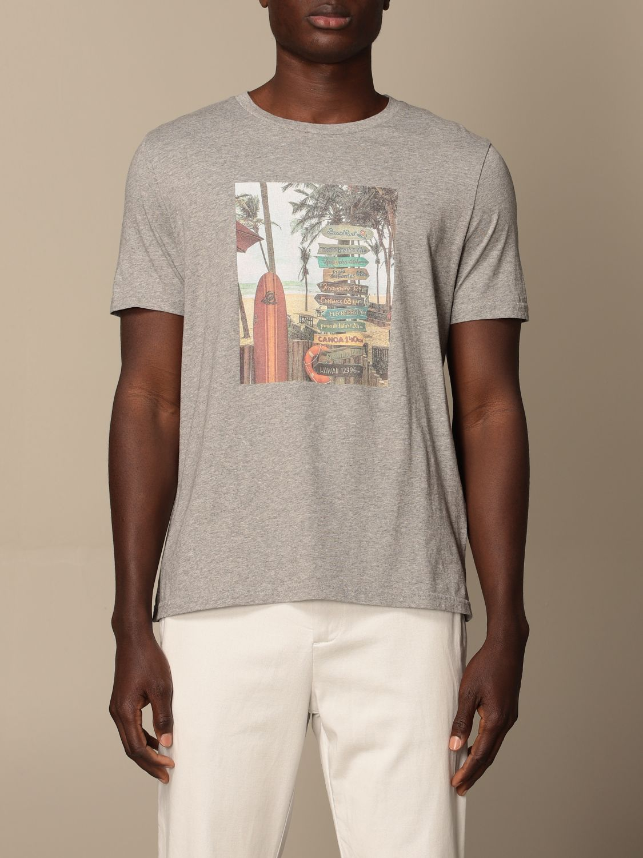 T-shirt Altea: T-shirt Altea in cotone grigio 1