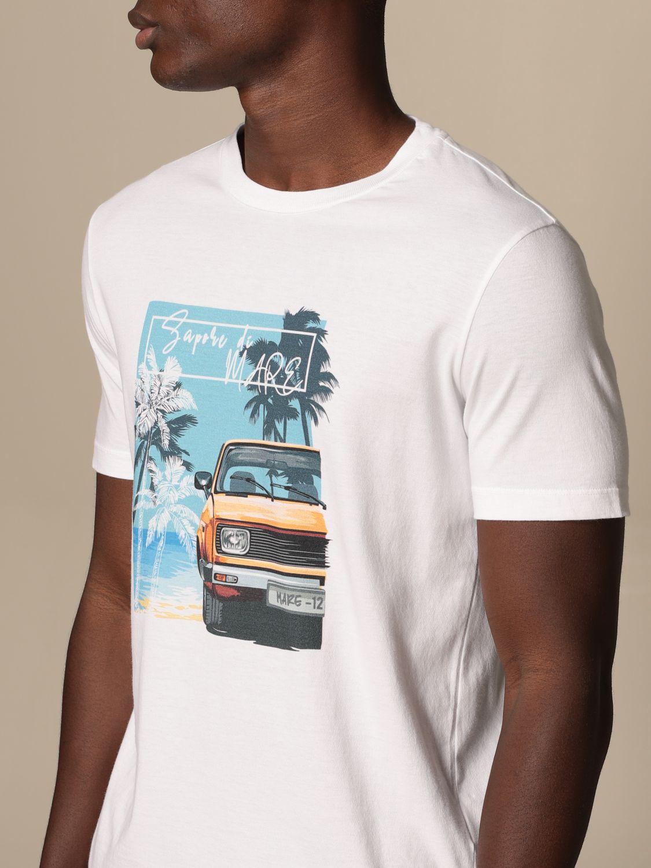 T-shirt Altea: T-shirt Altea in cotone con stampa bianco 1 3