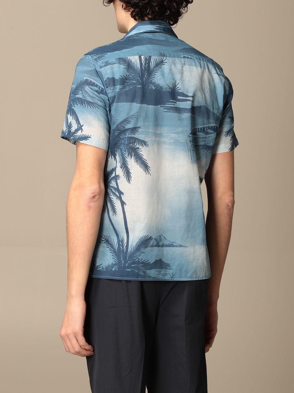 Camicia Altea: Camicia Altea in cotone a fantasia azzurro 2